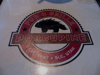 Porcupine pub sign