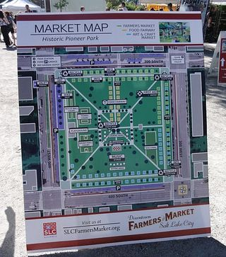 Farmers market layout