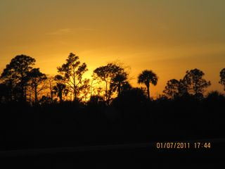 Sunset off Alligator Alley