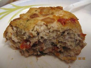 Turkey Meatloaf Muffin - open