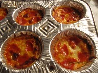 Mini Deep Dish Pizza - My Try